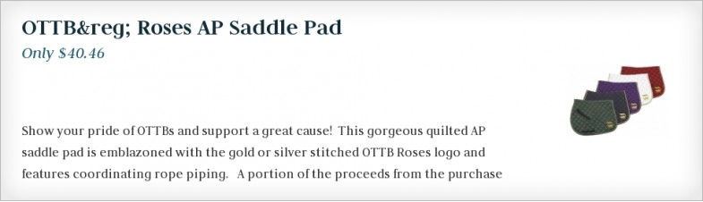 OTTB Roses AP Saddle Pad