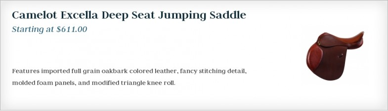 Camelot Excella Deep Seat Jumping Saddle