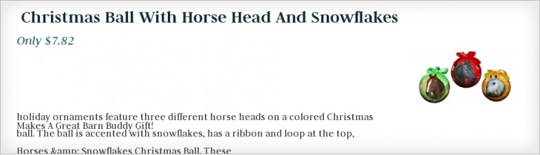 Christmas Ball With Horse Head And Snowflakes